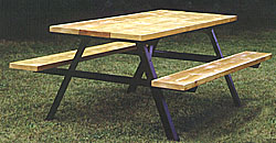 Picnic Table Frame Park Bench Frames Campground Grills - Picnic table steel frame kit