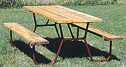 Heavy Duty Campground Picnic Table Frames | Chadwick Manufacturing