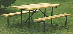 Picnic Table Frame Park Bench Frames Campground Grills - Tubular picnic table frame