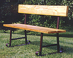 Park and Campground waiting bench